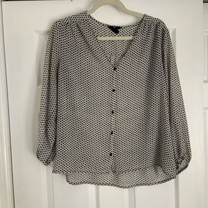 H&M Printed Blouse. Size 8